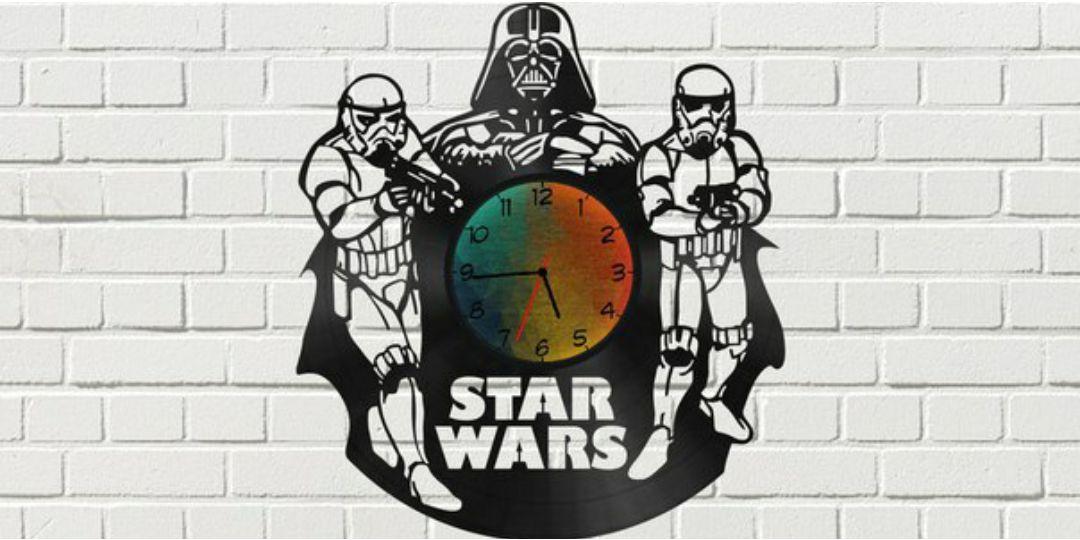 Star Wars Clock Plans Darth Vader Stormtrooper For Laser Cut Free CDR Vectors Art