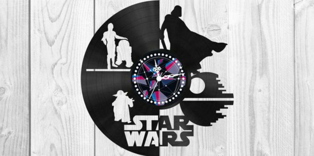 Star Wars Clock Plans Darth Vader Yoda For Laser Cut Free CDR Vectors Art