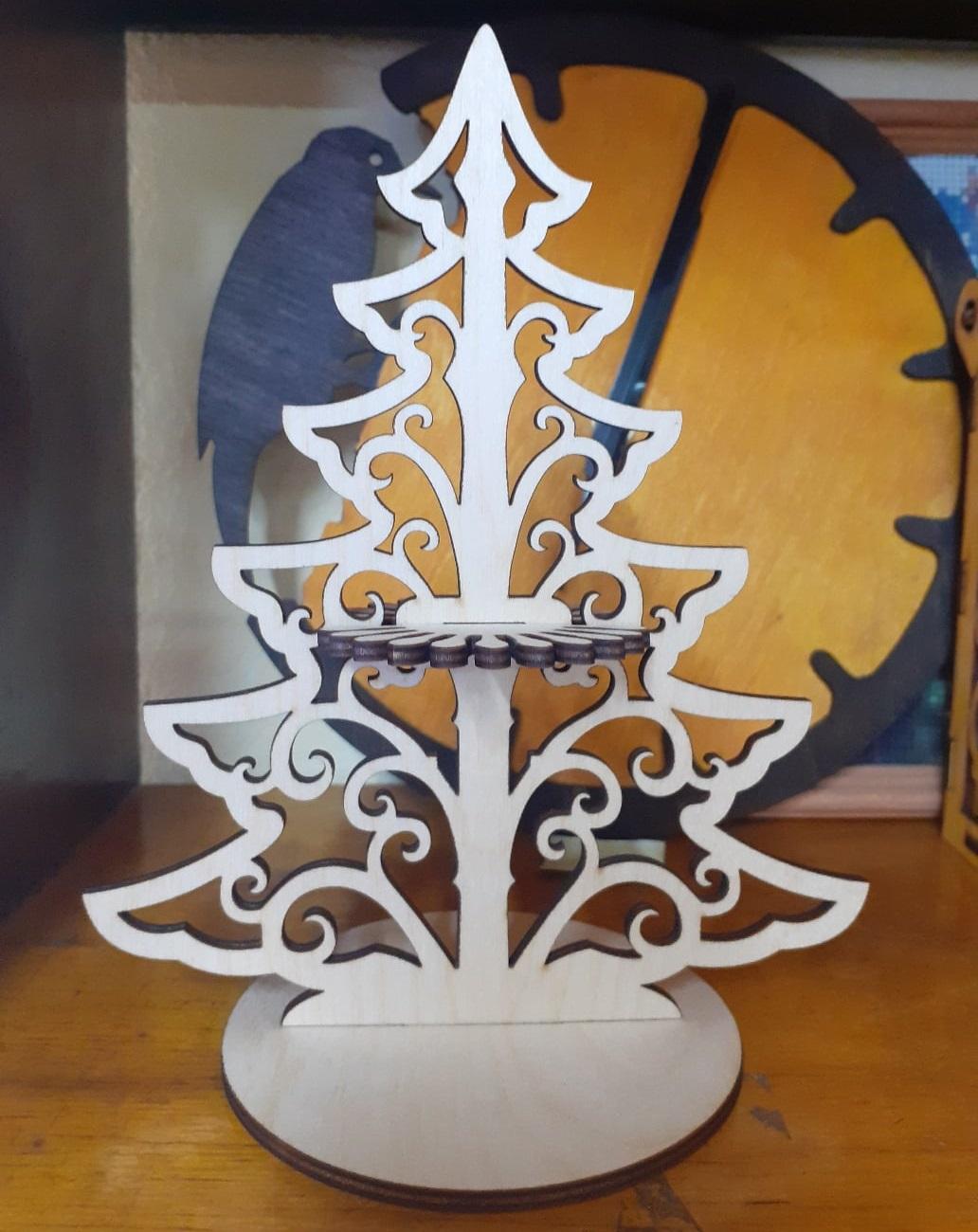 Tree Napkin Holder For Laser Cut Free CDR Vectors Art