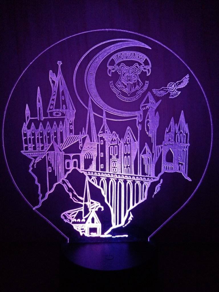3d Lamp Hogwarts Castle For Laser Cutting Free CDR Vectors Art