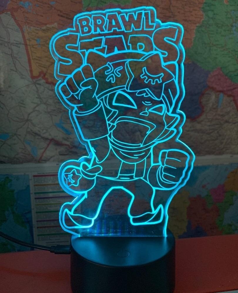 Laser Cut Brawl Stars Nightlight 3d Illusion Lamp Free CDR Vectors Art