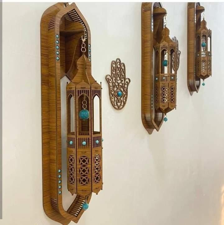Laser Cut Decorative Wall Lamp Free CDR Vectors Art