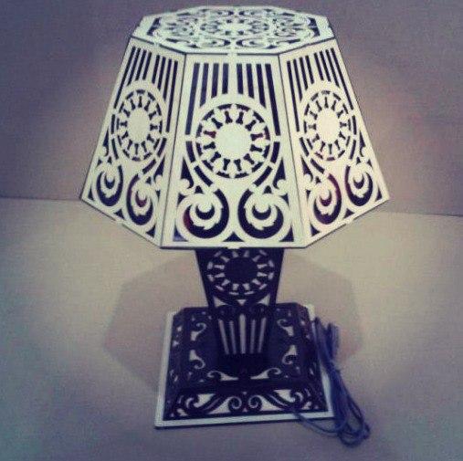 Laser Cut Light Lamp Free CDR Vectors Art