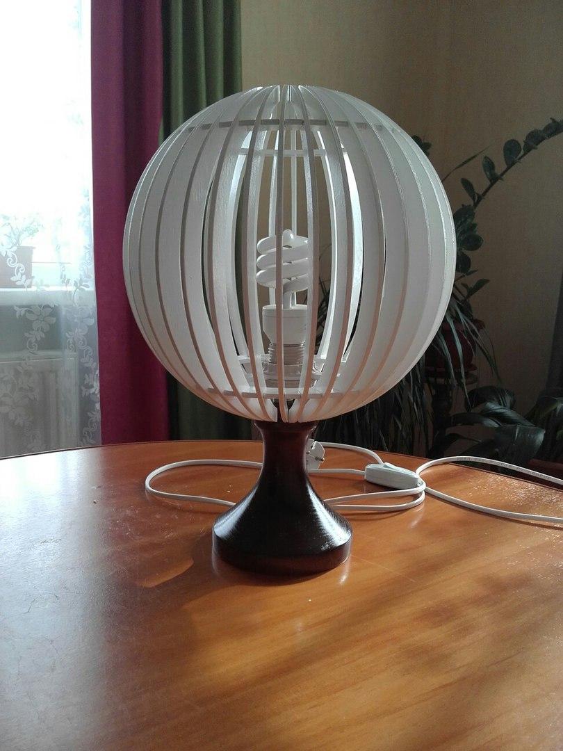 Laser Cut Modern Table Lamp Free CDR Vectors Art