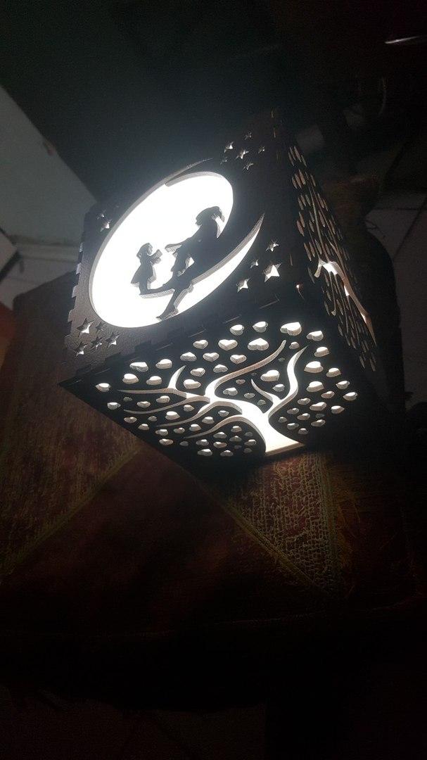 Wood Lamp Shade For Laser Cut Free CDR Vectors Art