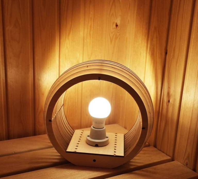 Wooden Lamp Drawing For Laser Cut Free CDR Vectors Art