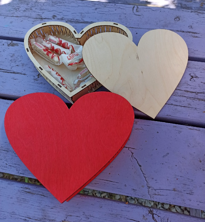 Heart Shaped Love Box Chocolate Box For Laser Cut Free CDR Vectors Art