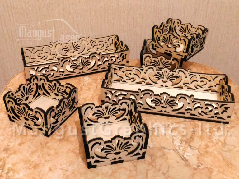 Small Boxes For Flowers 6x6x3 Cm And 6x15x3 Cm For Laser Cutting Free CDR Vectors Art