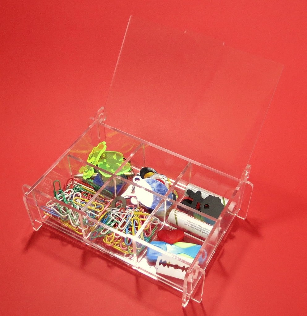 Storage Box With Partitions Acrylic 3mm For Laser Cut Free DXF File