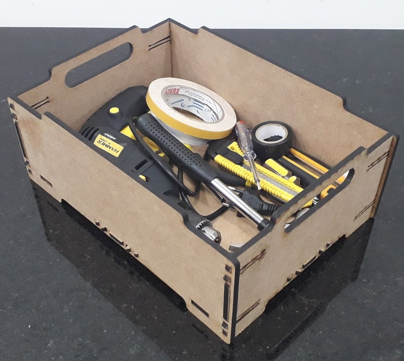 Laser Cut Wooden Stackable Box 4mm Free AI File