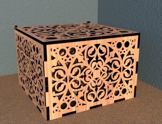 casket. 150x150x100 4mm For Laser Cut Free CDR Vectors Art