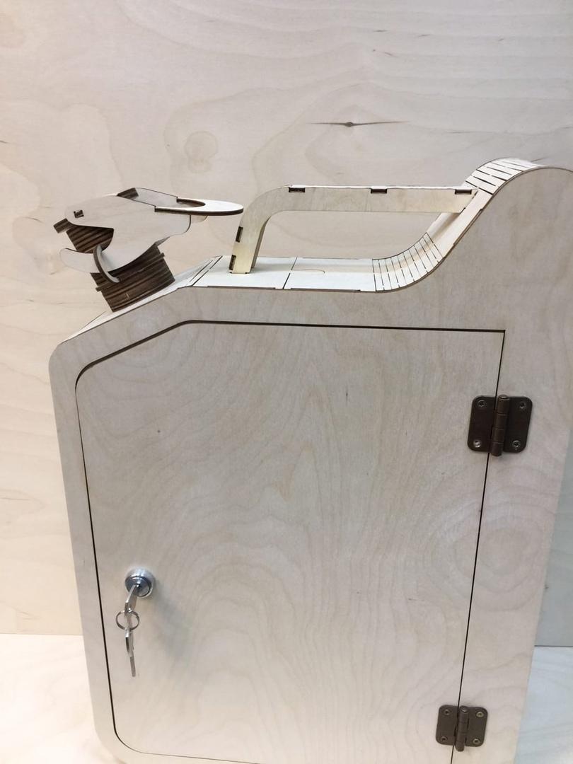Laser Cut Jerry Can Mini Bar 3mm Free CDR Vectors Art