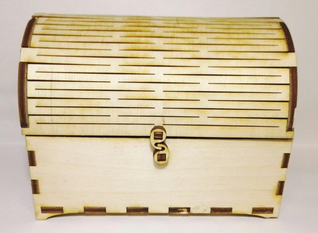 Laser Cut Treasure Chest 4mm Free CDR Vectors Art