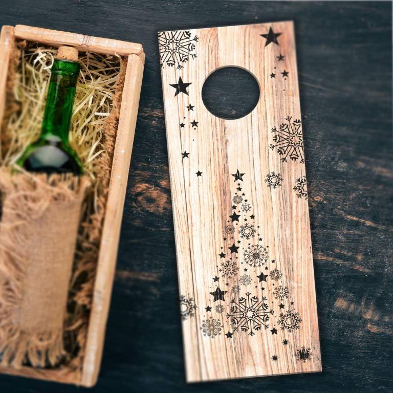 New Years Packaging For Wine For Laser Cutting Free CDR Vectors Art