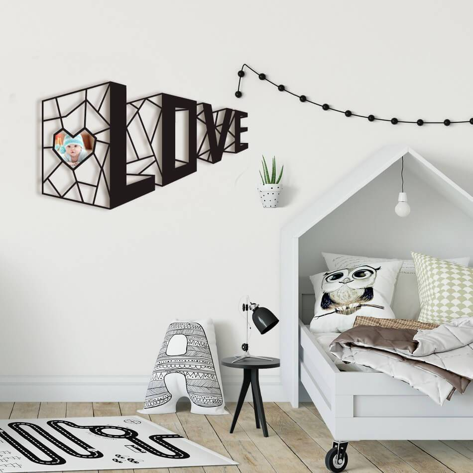 3d Love Wall Decor For Laser Cutting Free CDR Vectors Art