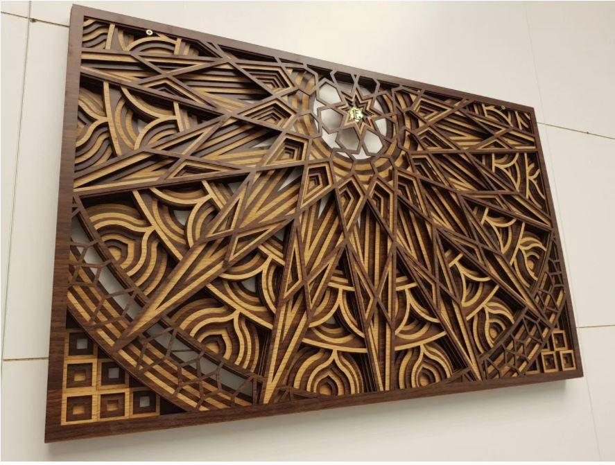 A Wonderful mock-up Of A Wall Panel Free CDR Vectors Art