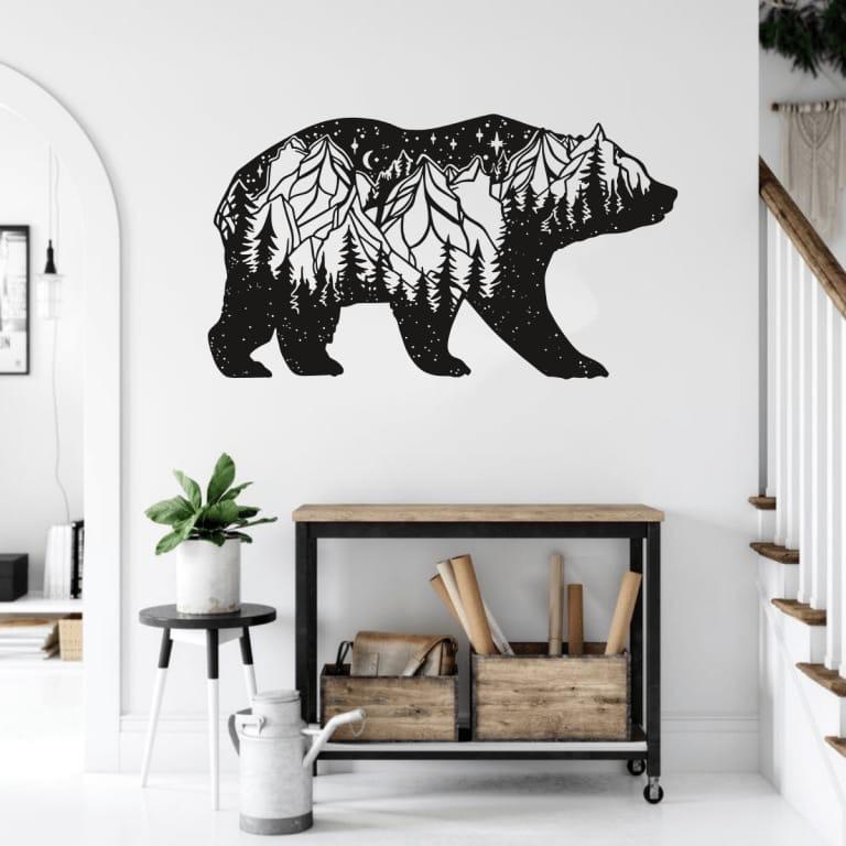 Bear Wall Decor For Laser Cutting Free CDR Vectors Art