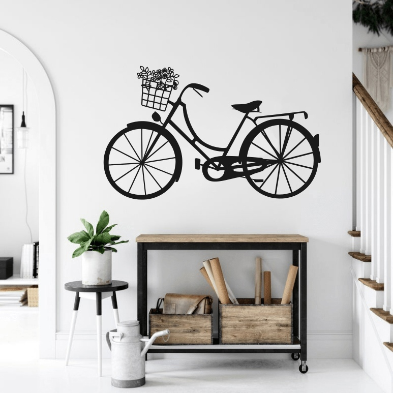 Bicycle Wall Decor For Laser Cut Free CDR Vectors Art