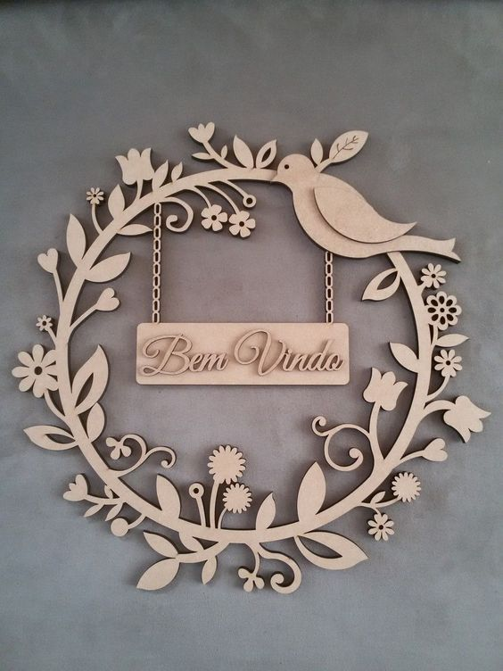 Bird For Wall Decor Drawing For Laser Cutting Free CDR Vectors Art