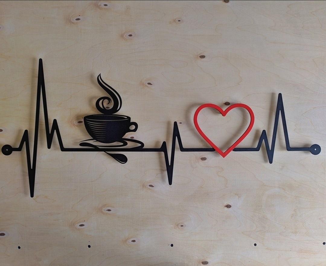 Laser Cut Coffee Cardio Wall Decor Free CDR Vectors Art