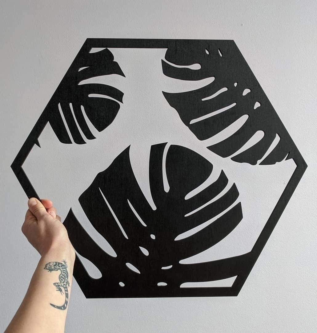 Laser Cut Monstera Leaf Wall Decor Free CDR Vectors Art