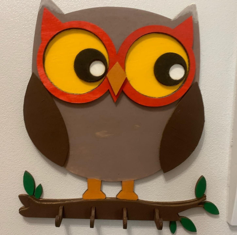 Laser Cut Owl Wall Hanger Owl Wall Decor Free CDR Vectors Art