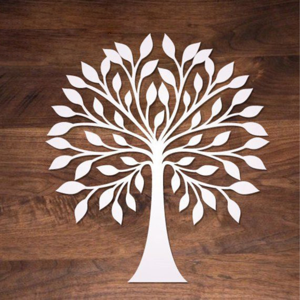 Wooden Tree Wall Decoration For Laser Cut Free CDR Vectors Art