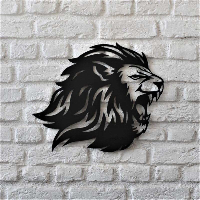 Laser Cut Lion Wall Decor Free DXF File