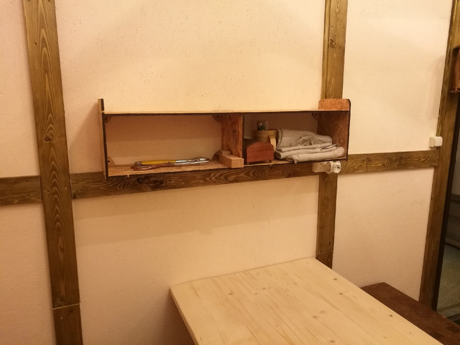 Simple Wall Shelf For Laser Cutting Free DXF File