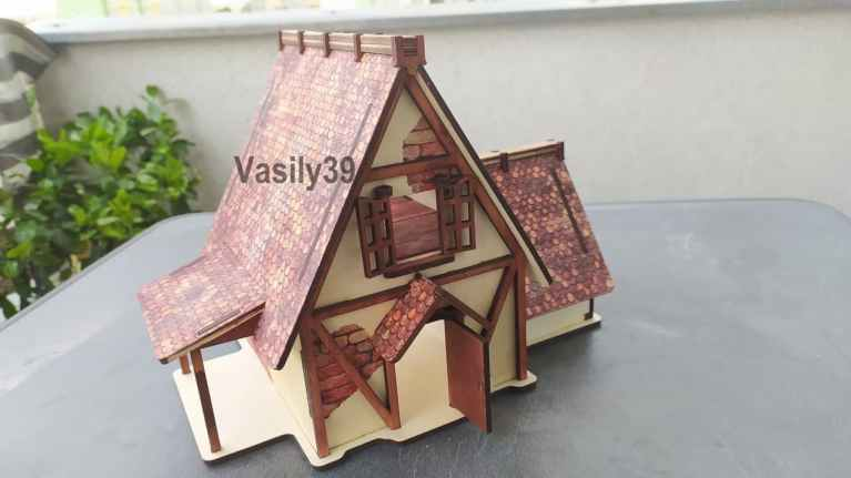 Farm House Drawing For Laser Cutting Free CDR Vectors Art