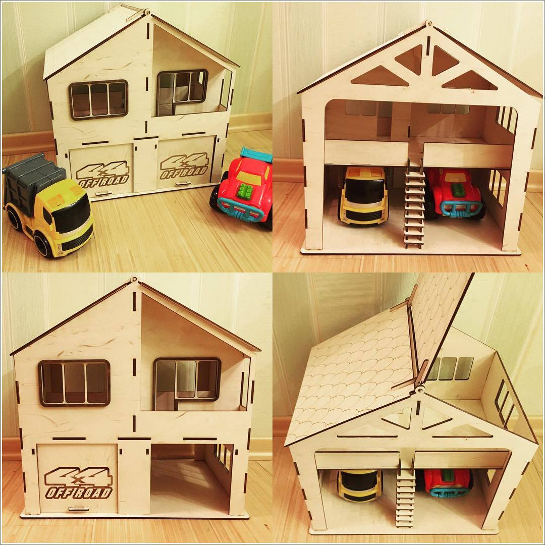 House Garage For Laser Cutting Free CDR Vectors Art