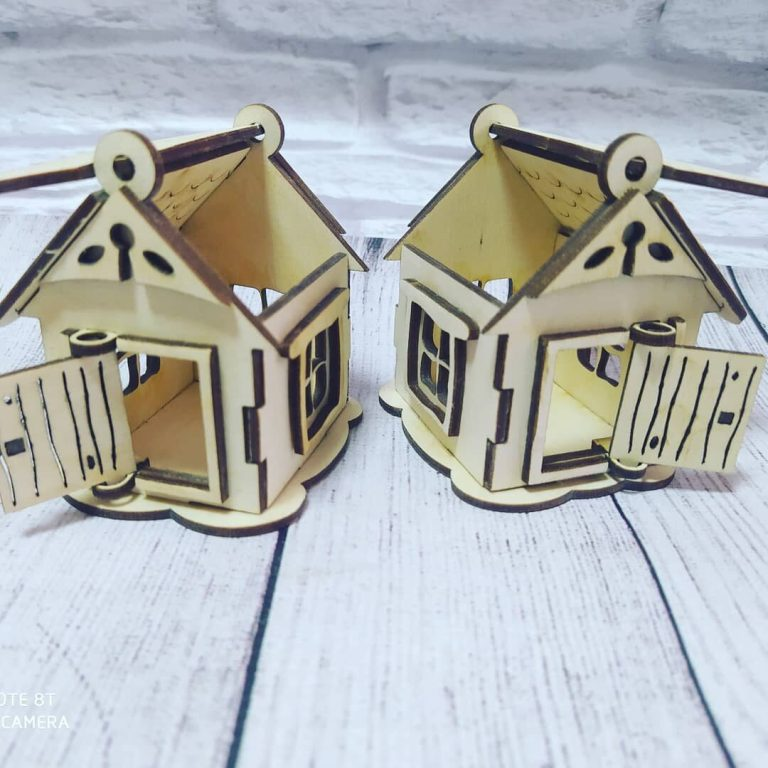 Mini House For Laser Cutting Free CDR Vectors Art
