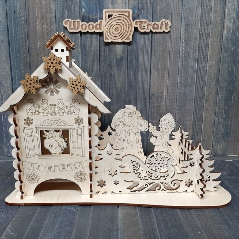 Tea House From Wood Craft For Laser Cutting Free CDR Vectors Art