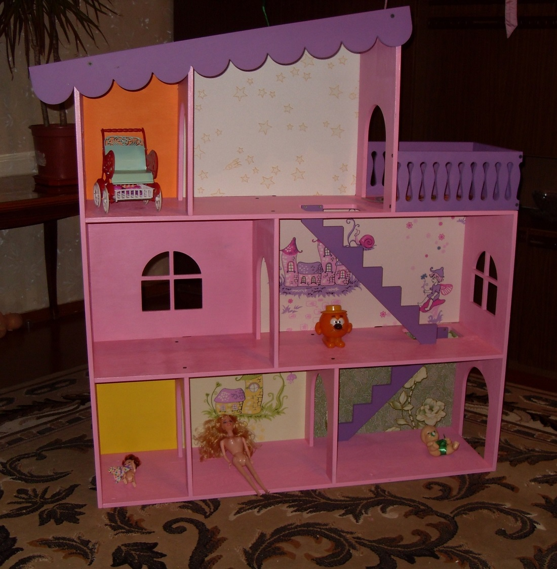 Wooden Barbie House For Laser Cutting Free CDR Vectors Art