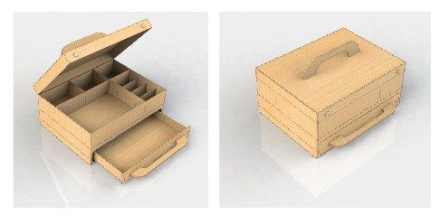 Box Organizer For Laser Cutting Free CDR Vectors Art