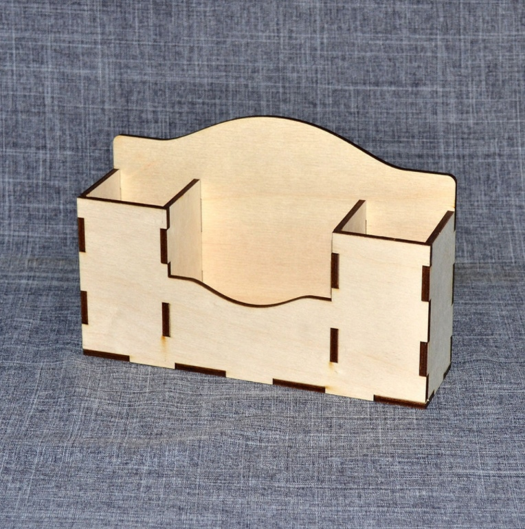 Simple Desk Organizer For Laser Cutting Free CDR Vectors Art