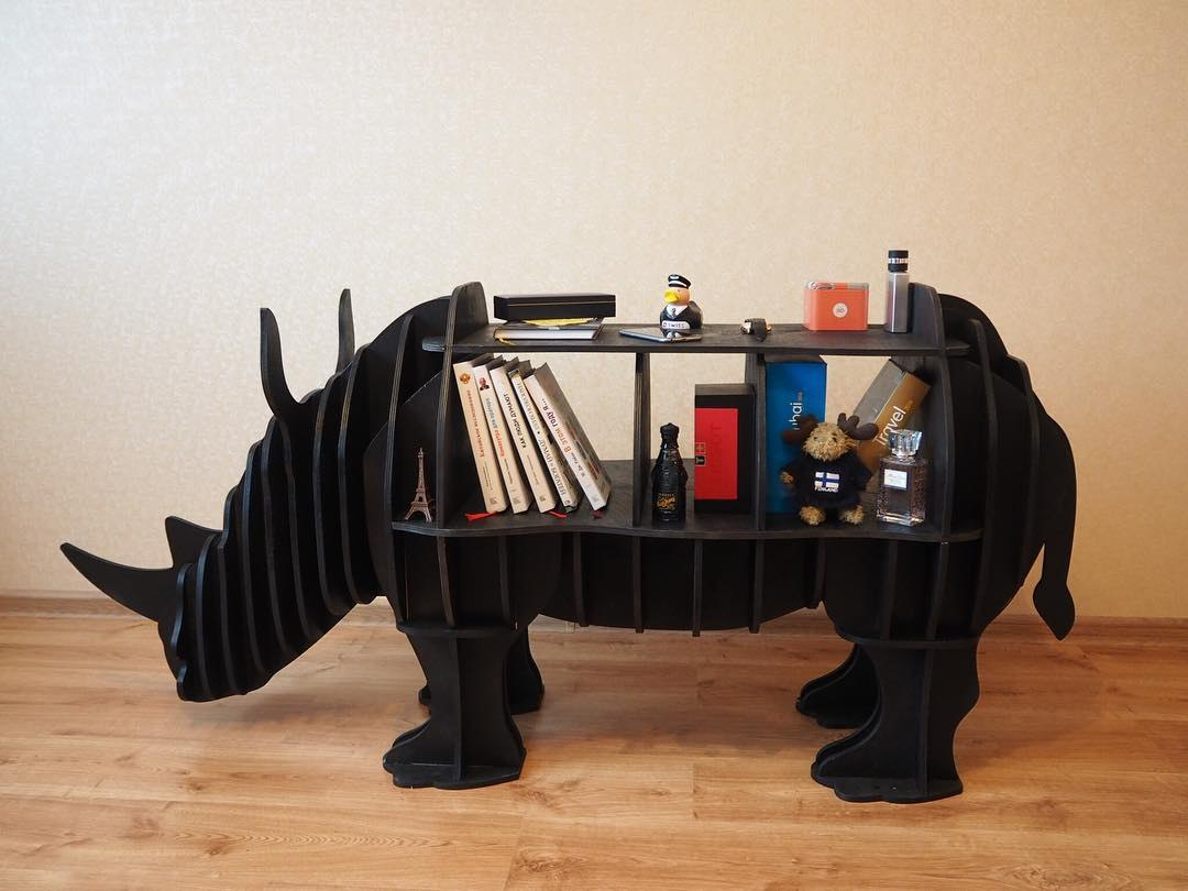 Rhino Shelf Plan 8mm For Laser Cut Free CDR Vectors Art