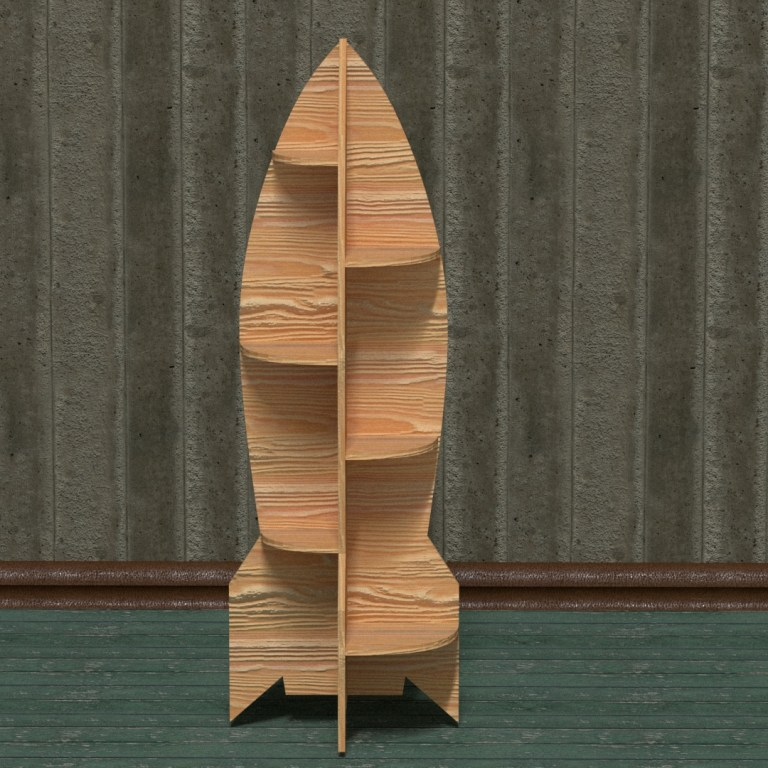 Rocket Shelf For Kids Drawing For Laser Cut Free CDR Vectors Art