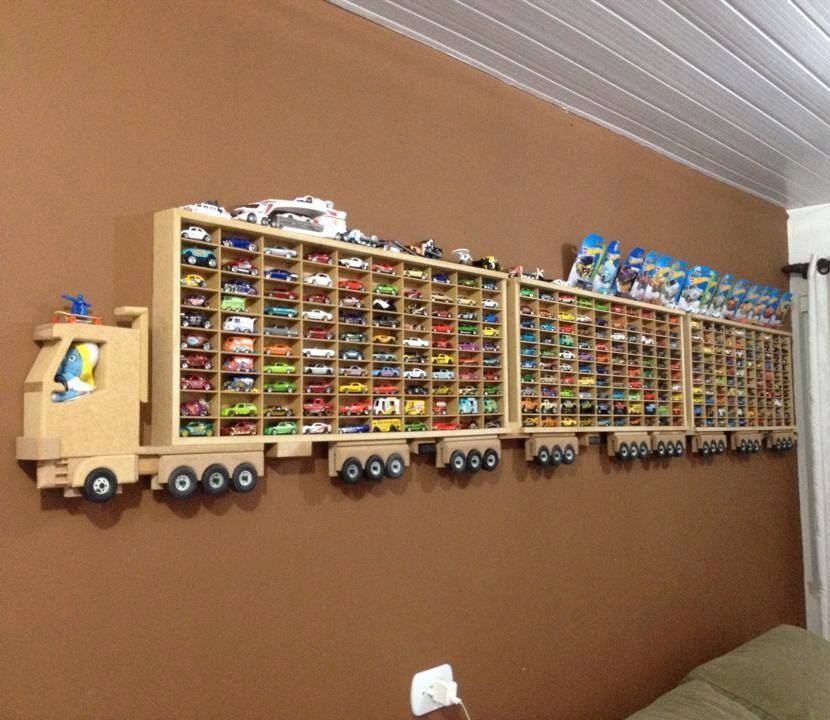 Toy Car Storage Truck Wall Shelf For Laser Cutting Free CDR Vectors Art