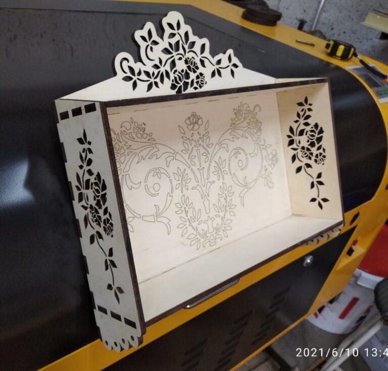 Spice Rack 6mm Laser Cut Decorative Kitchen Free CDR Vectors Art