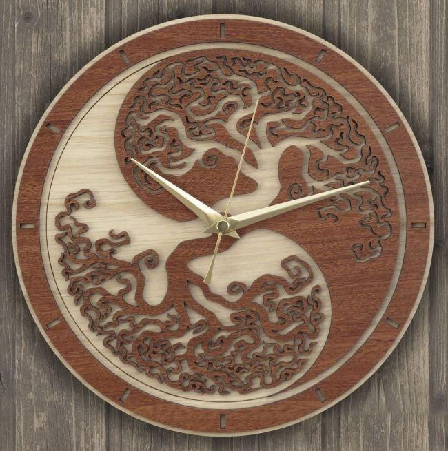 Decorative Clock For Laser Cutting Free CDR Vectors Art