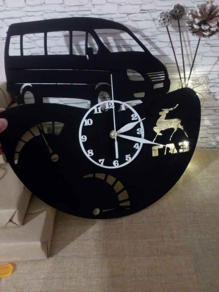 Gazelka Clock For Laser Cutting Free CDR Vectors Art