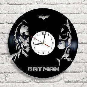 Joker Vs Batman Vynl Clock For Laser Cutting Free CDR Vectors Art