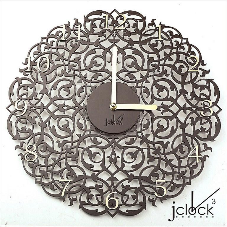 Wooden Clock Ornament For Laser Cutting Free CDR Vectors Art