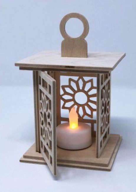 Decor For Lamp Candlestick For Laser Cutting Free CDR Vectors Art