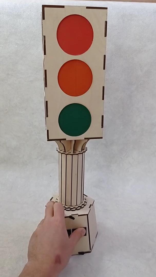 Laser Cut Traffic Light For Kindergarten Free CDR Vectors Art