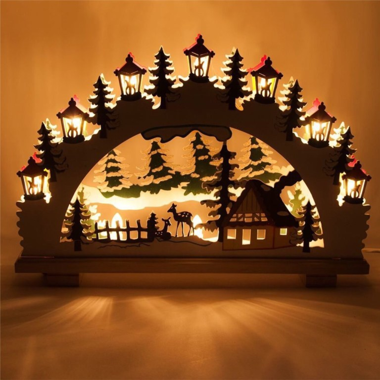 New Year Night Light Drawings And Layouts 2 For Laser Cutting Free CDR Vectors Art