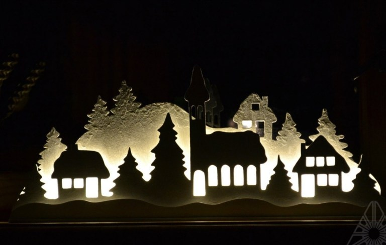 New Year Night Light Drawings And Layouts 4 For Laser Cutting Free CDR Vectors Art