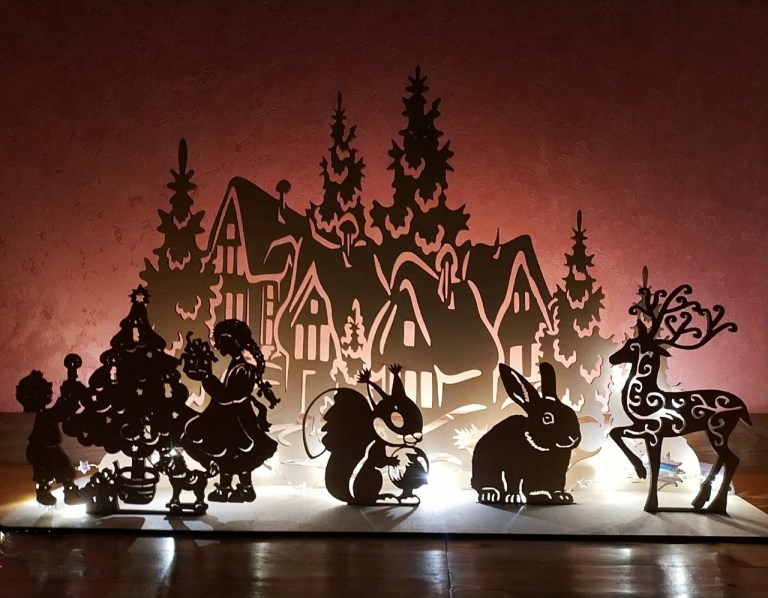 New Year Night Light Drawings And Layouts For Laser Cutting Free CDR Vectors Art