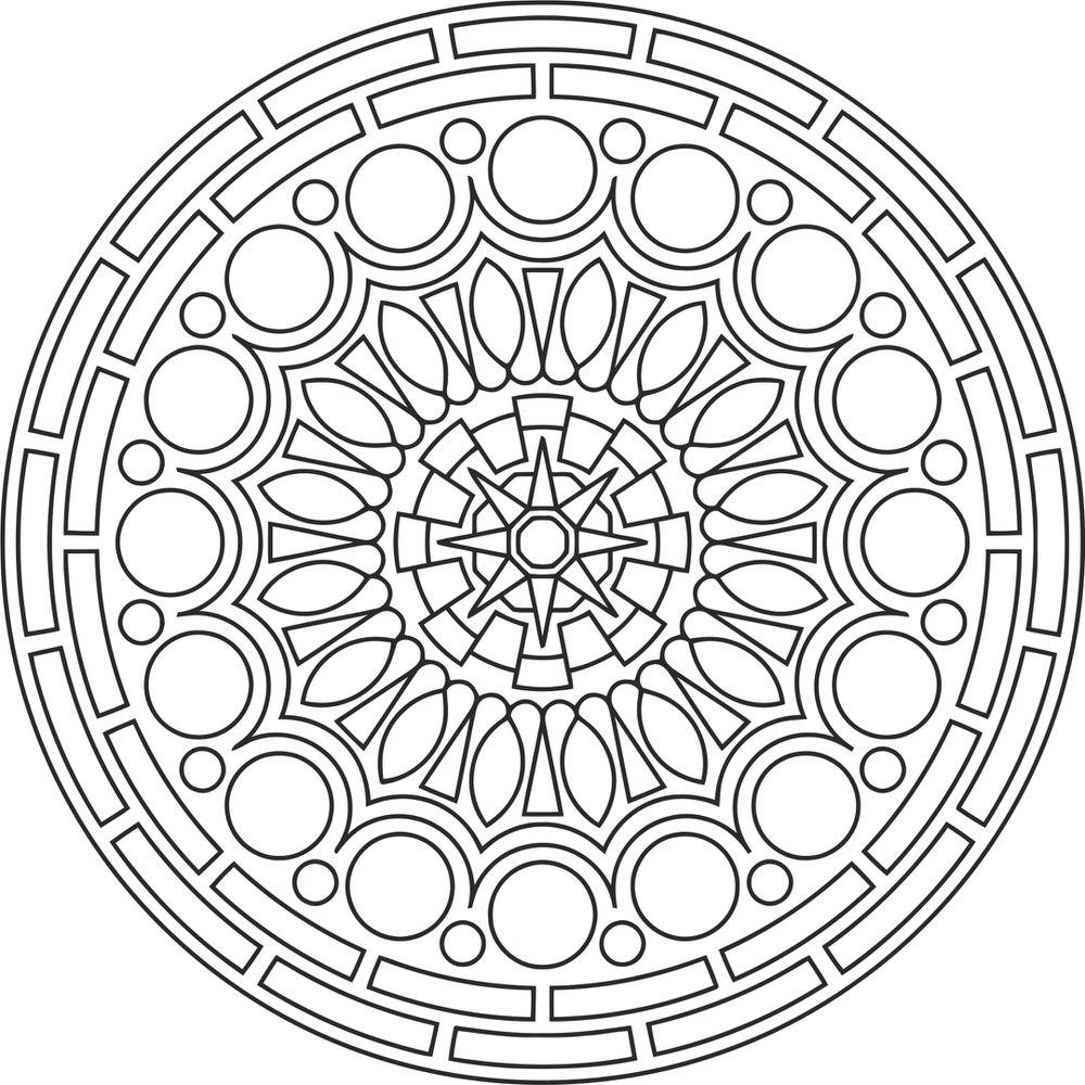 Laser Cut Mandala Des Round Free CDR Vectors Art